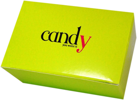 Foil-stamped candy box