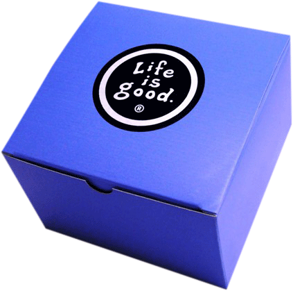 Foil-stamped gift box