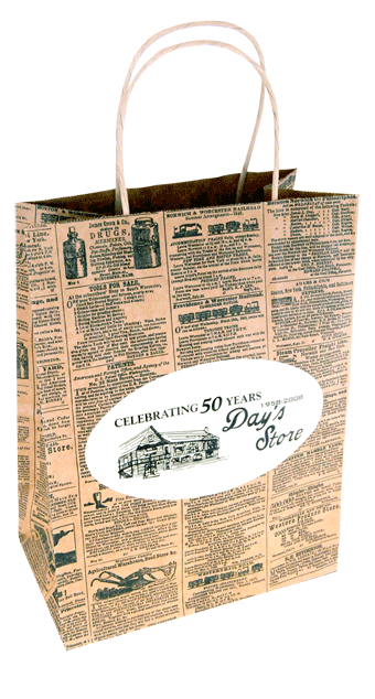 Day's Store shopping bag with pigment foil stamping