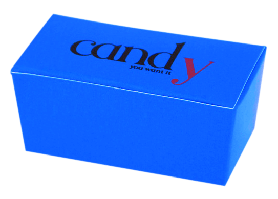 Candy gift box stamped with pigment foil